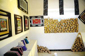 民族刺绣传习馆展示的作品。