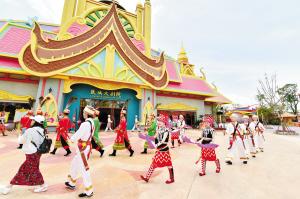民族歌舞表演。