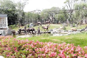 """""""柳营洗马""""景观重现。 记者李海曦摄"""
