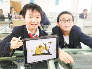 学生设计的游戏人物形象。