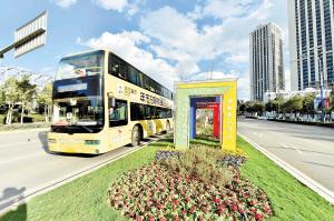 沣源路绿化提升改造工程完成,道路景观更加丰富。  记者王俊星摄
