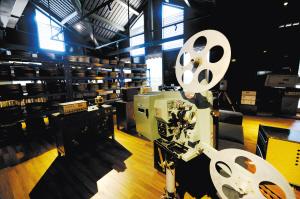 电影馆里的胶片放映机。