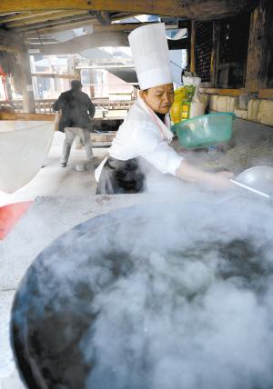 豆腐坊里出品的手工豆浆。