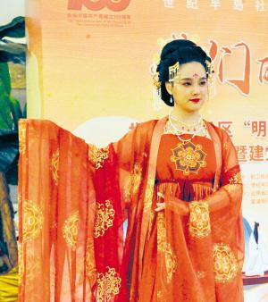 汉服服饰表演。记者刘凯达摄